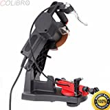 COLIBROX--ELECTRIC CHAINSAW SHARPENER GRINDER CHAIN SAW BENCH MOUNT W BRAKE AND WHEEL.chainsaw chain vice.best electric chainsaw sharpener.electric chainsaw sharpener harbor freight.chainsaw bar vise.