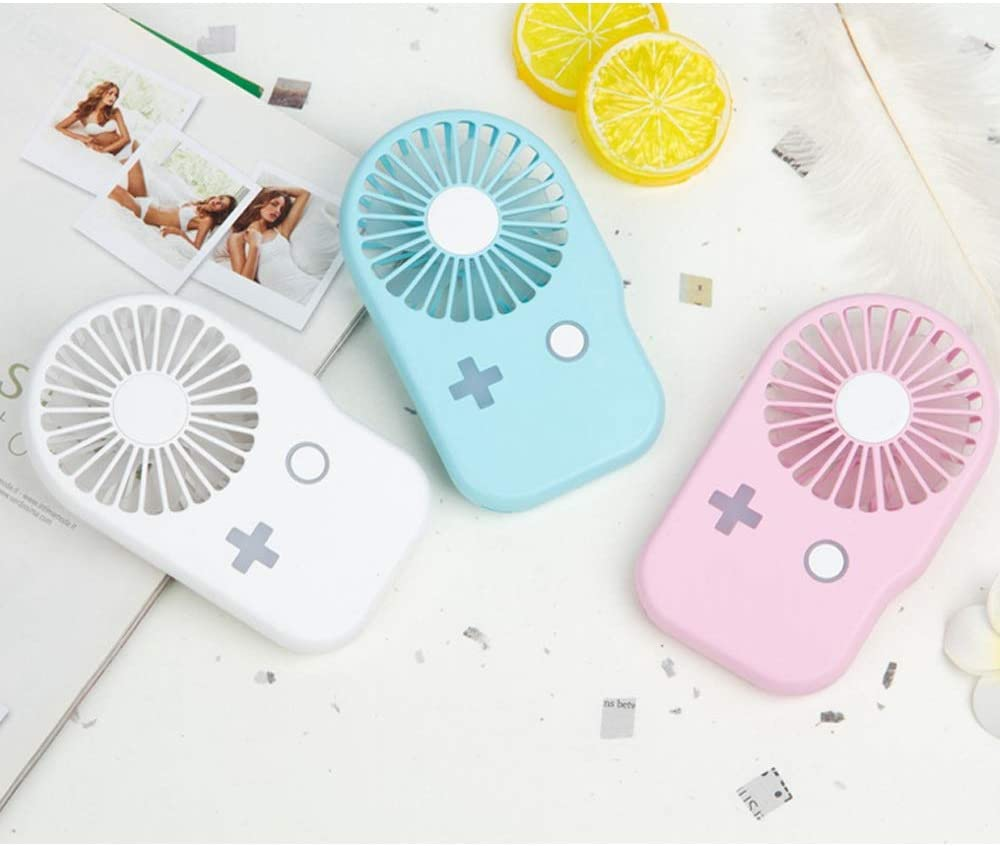 Color : C USB Small Fan Mini Rechargeable Handheld Small Electric Fan with Student Mute Portable Hand 2.5W 5V Handheld Fan BLWX