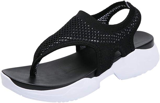 Sandalias Mujer Verano 2019 Tallas Grandes Moda Sandalias De Cuna De Verano De Mujeres Sandalia Con Pez Senoras Zapatos De Playa Nina Calzado 35 43 Amazon Es Zapatos Y Complementos