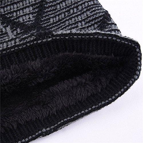gris los de cálido de de forro punto Kfnire con hombres gorros invierno polar Uq4w0x7f
