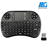 MEGACRA Mini 2.4GHz Wireless 3 in 1 Keyboard with Mouse Touchpad for Android/PS3/Xbox 360/TV Box/PC with Windows OS, Mac, Linux (Battery Included)