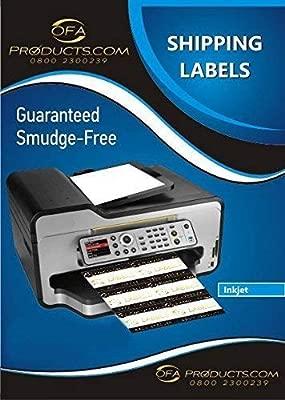 (Dos) - 2 Etiquetas por Hoja, X 100 A4 Hojas / Caja, Sticky Impresora de Inyección de Tinta ,Laser y Foto Copiador Etiquetas 2 / Hoja 199.6X 143.5mm ...