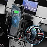 Mpow Wireless Car Charger Mount, 2-in-1 Car Mount with Dual Vent Clips, 10W/7.5W Qi Fast Charging Phone Holder for Air Vent and CD Slot, Compatible iPhone 11/11 Pro/11 Pro Max/Xs Max/XS/XR and More