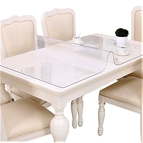 Get clear table protector plastic tablecloth cover pads rectangle square wipeable protective