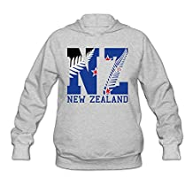 Women's New Zealand Flag 2016 NZ Fern Leaf Hoodie