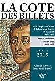 La côte des billets français 19e et 20e siècles