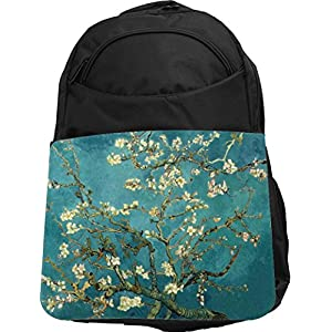 Rikki Knight UKBK Van Gogh Almond Blossoms Tech BackPack - Padded for Laptops & Tablets Ideal for School or College Bag BackPack