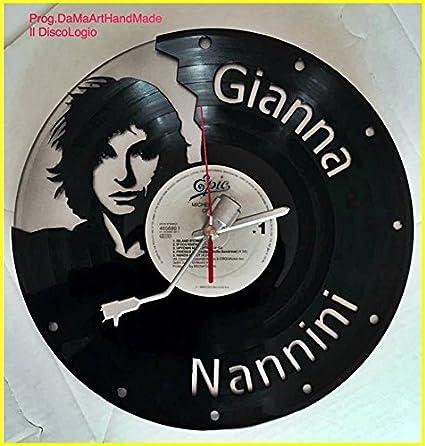 """Gianna Nannini – Plata – Reloj de pared de vinilo """"Il discologio hecho"""