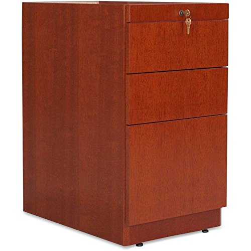 Lorell 88000 Fluted Edge Veneer Furniture -Box/Box/File Pedestal,15-3/4
