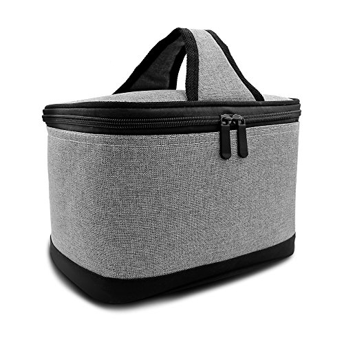 Bento Lunch Bags for Adults, Insulated Lunch Bag for Men, Grey by Yuesheng