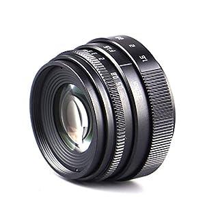 FOTOMIX Black Mini 35mm F1.6 Television TV Lens/CCTV Lens for Olympus Panasonic Micro 4/3 Sony NEX Canon EOS M Fujifilm FX X-E3 X-T2 Camera