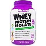Bluebonnet Nutrition, 100% Natural Whey Protein Isolate, Natural Original Flavor, 2.2 lbs (992 g) - 3PC