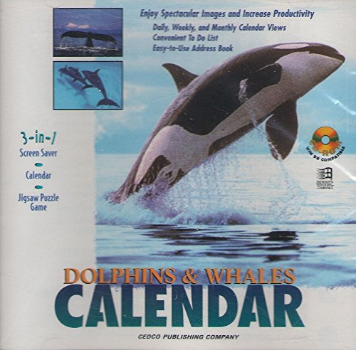 Screensaver Calendar - Dolphins & Whales Calendar: Screen Saver, Calendar, Jigsaw Puzzle Game