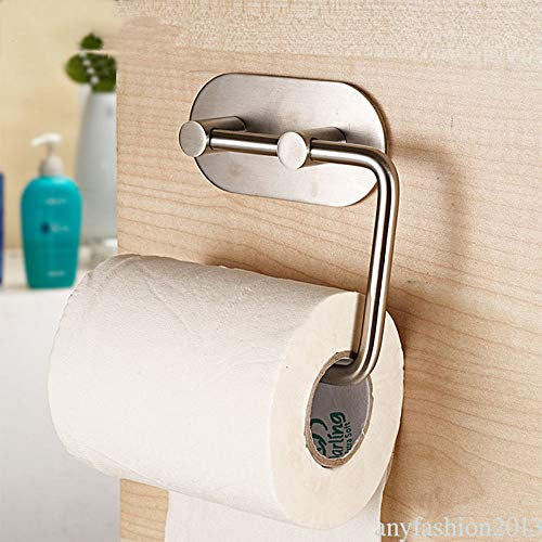 Agordo Self Adhesive Stainless Steel Firm Toilet Paper Towel Holder Storage Shelf VT5 -