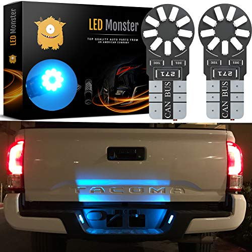 LED Monster 2-Pack Ice Blue 18-SMD LED Light Bulb for Turn Signal License Plate Interior Map Dome Side Marker Light 194 168 2825 175 192 W5W T10 Wedge Super Bright High Power 3016