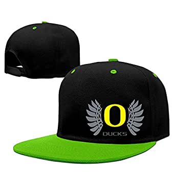 Unisex Oregon Wings Ducks Logo Hip Pop Baseball Hat Snapback Cap KellyGreen