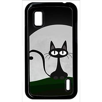 Carcasa Google Nexus 4 gato negro: Amazon.es: Electrónica