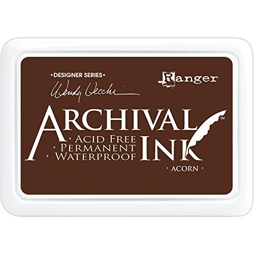 Ranger Wendy Vecchi Archival Inks - Bundle of 6 Full-Size Ink Pads - 2018 Release - Acorn, Bluebird, Peat Moss, Poppy, Prickly Pear, Thistle