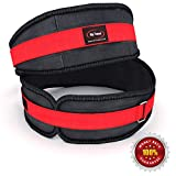 Lifting Belt By Rip Toned - 4.5 Inch Weightlifting Back Support & Bonus Ebook - For Powerlifting, Crossfit, Bodybuilding, Strength & Weight Training, MMA