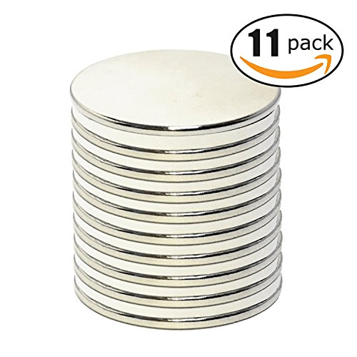 vture-neodymium-disc-magnets-126d-x-008h-pack-of-11-strong-permanent-rare-earth-magnets-fridge-diy-b