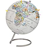 Waypoint Geographic Magneglobe Date World Globe Stand-Includes 32 Magnetic Pins Marking Travels Fun Points Interest (Classic Ocean)