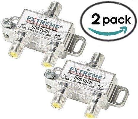 BDS102H Extreme 2 Way RG6 Coax Coaxial Cable Splitter 50 pcs