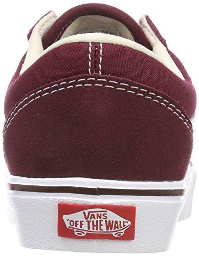 Vans Old Skool Lite, Sneaker Unisex Adulti Rosso (Suede/Canvas)