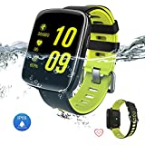 Smart Watch Bluetooth Fitness tracker -Yarrashop Waterproof Touch Screen Smart Watch Heart Rate and Sleep Monitor Smartwatch Wrist Bluetooth Call Reminder with Removable Straps for iOS Android (Green)