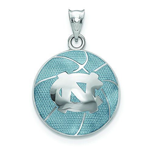 (LogoArt University of North Carolina Enameled Basketball Pendant)