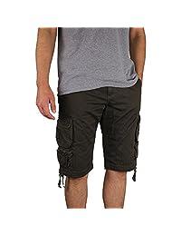 Men's Gray Earth Long Lightweight Cargo Shorts