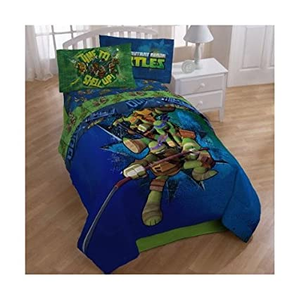 Teenage Mutant Ninja Turtles Twin Bedding Comforter And Sheet Set TMNT