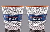 Basketball Net 'Crunch Time' NBA Design Wastebasket White 2-Pack