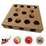 Unique Design, New to the US for 2017 - Interactive Indoor Kitten and Cat Toy Puzzle Box - From UK TV The Secret Life of Kittens - Four Cat Toys included, 3 Balls and a Mouse - Great Gift for any Cat