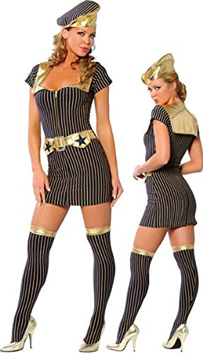 1940's Navy Dress - Women's Sexy Vintage Navy Halloween Costumes Uniforms]()
