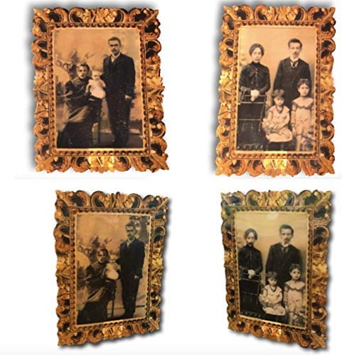 Set of 2 Halloween Lenticular Victorian Family Portraits - Plastic Decoration for Party Haunted House - Scary Creepy Eerie Spooky Bloody Vintage Look ()