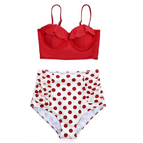 verso retr¨° spingono Swimwear sexy vita femminile stampa l'alto alta 90 costume da bikini bikini M bagno serie Macxy donne del delle vecchio Beach da bagno 974 usura lo costume zOSx8dw7