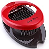 kitchen aid red egg slicer - Latest Egg Slicer - Slice Hard Boiled Eggs, Mushroom Or Strawberry Into Perfect Slices - Contemporary Design - Constructed With Tough, Rust-Resistant Stainless Steel Wire - Non Skid Feet For Stability