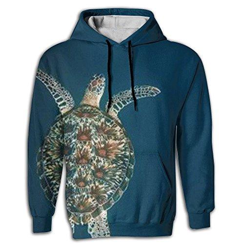 Free Sea Turtles Men's Novelty Hoodie Cute Tie Dye Sweatshirts
