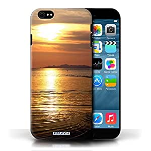 KOBALT? Protective Hard Back Phone Case / Cover for Apple iPhone 6/6S | Sea Design | Sunset Scenery Collection