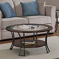 Metro Shop Carlisle Walnut/ Charcoal Grey Round Coffee Table--