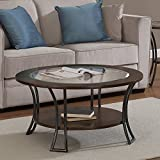 Metro Shop Carlisle Walnut/ Charcoal Grey Round Coffee Table– Review