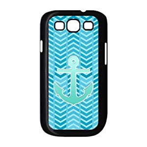 HXYHTY Phone Case Blue Chevron Anchor Hard Back Case Cover For Samsung Galaxy S3 I9300