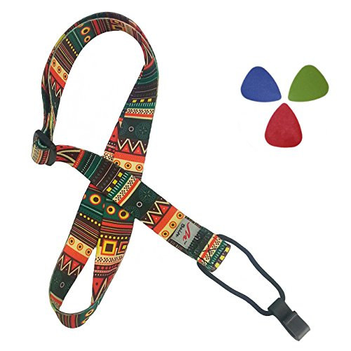 Retro Ethnic Printed Adjustable Ukulele product image