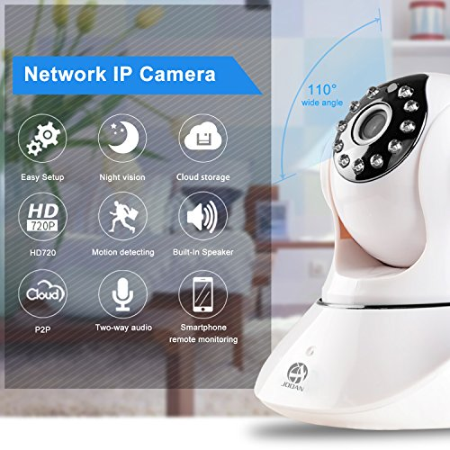 IP Camera, JOOAN HD 720P Network Wireless Camera Remote Monitoring Security Camera with Two-way Audio