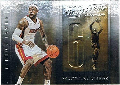 2012-13 Panini Brilliance Magic Numbers #12 LeBron James (Brilliance Numbers Panini Magic)