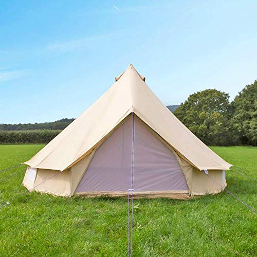 Free Space Big Family Camping Bell Tent (Beige, 3 Meters in Diameter)