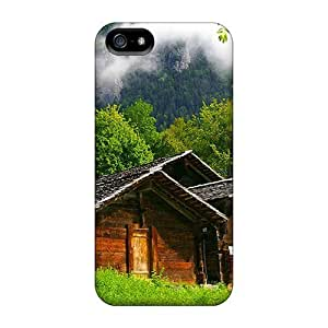 Awesome Wooden Houses In The Mountain Flip Case With Fashion Design For Iphone 5/5s by ruishername