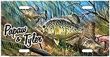 zaeshe3536658 Crappie Fishing Lake Life License Plate, Auto Car Tag, Personalize Aluminum Novelty Vanity Plate, Auto Tag, Fantasy Decor.