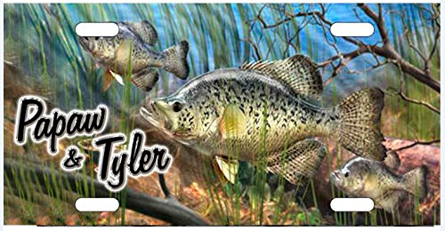 zaeshe3536658 Crappie Fishing Lake Life License Plate, Auto Car Tag, Personalize Aluminum Novelty Vanity Plate, Auto Tag, Fantasy Decor. by zaeshe3536658