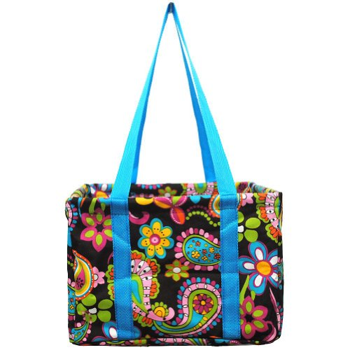 Small Utility Tote (Paisley-Blue)